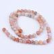 Chapelets de perles d'agate naturelleG-Q462-6mm-38-2