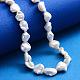 Hebras de perlas keshi de perlas barrocas naturalesPEAR-K004-34-5