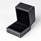 Cajas rectangulares anillo de imitación de cueroLBOX-F001-04-2