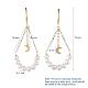 Pendientes de perlas naturalesEJEW-JE03828-02-5