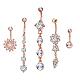 Brass Piercing JewelryAJEW-EE0006-79RG-1