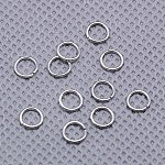 Sterling Silver Close but Unsoldered Jump Rings, Round Rings, Ring, Platinum, 5mm, Hole: 4mm