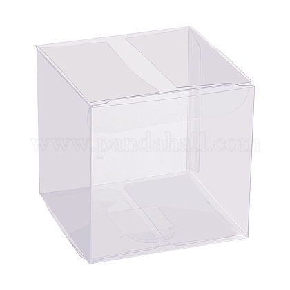 Transparent Plastic PVC Box Gift PackagingCON-WH0052-6x6cm-1