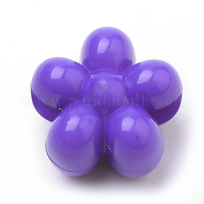 Opaque Acrylic European Beads SACR-Q190-26A-1