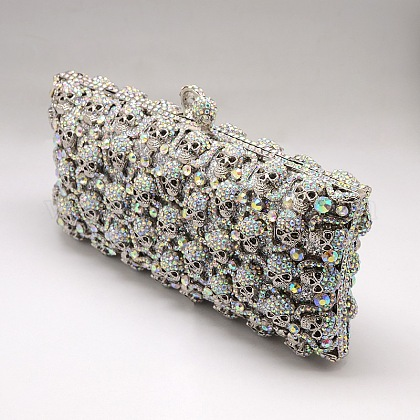 Elegant Rectangle Clutch Evening Bag Women Handbag AJEW-L016-17B-1