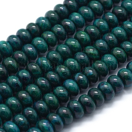 Dyed Natural Chrysocolla Beads StrandsG-E507-12A-8mm-1