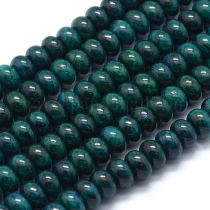 Cuentas de crisocola natural teñidas hebrasG-E507-12A-8mm-1
