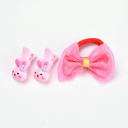 Juegos de accesorios para el cabello de conejito encantador para niñosOHAR-S193-19-1
