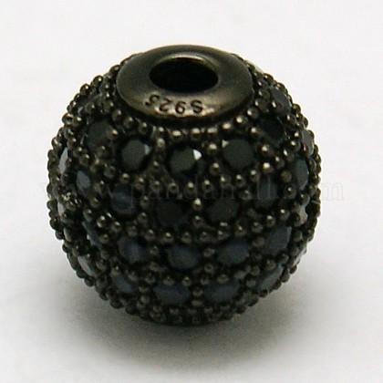 Круглые 925 серебро бусыSTER-O021-01B-10mm-1