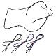 Cadenas de gafas planas antideslizantes de estilo étnico, correa para el cuello para anteojos, color mezclado, 27 pulgada (68.5 cm); 3 hebras / juego