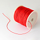 Braided Nylon Thread, Red, 0.5mm; about 150yards/roll(450 feet/roll)