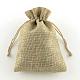 黄麻布製梱包袋ポーチ, 巾着袋, バリーウッド, 13.5x9.5cm