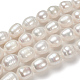 Perlas naturales abalorios de agua dulce cultivadasPEAR-D095-1-4