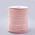 Single Face Velvet Ribbon, LavenderBlush, 3/8inch(9.5~10mm); about 50yards/roll(45.72m/roll)