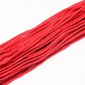 Blended Knitting Yarns, Red, 2mm; about 47g/roll, 5rolls/bundle, 10bundles/bag
