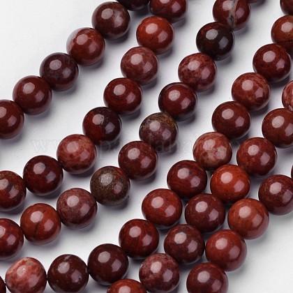 Natural Red Jasper Beads StrandsG-D809-15-10mm-1