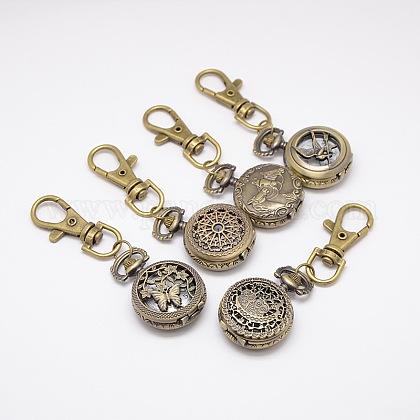 Estilos mixtos llavero retro accesorios reloj de cuarzo de aleación para llaveroWACH-M041-M-1