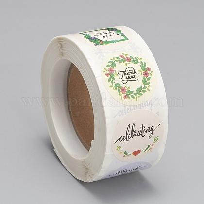 Etiquetas autoadhesivas de etiquetas de regalo de papel kraftDIY-G013-A09-1