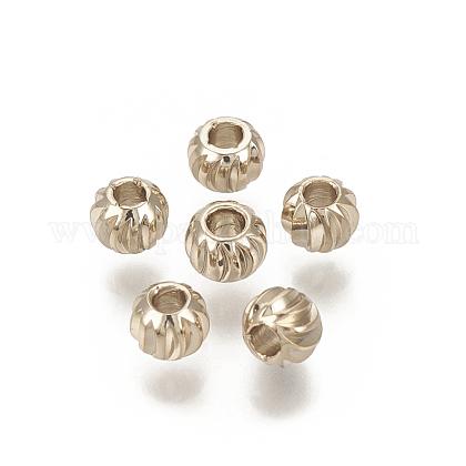Perles ondulées en laitonKK-T029-144LG-1