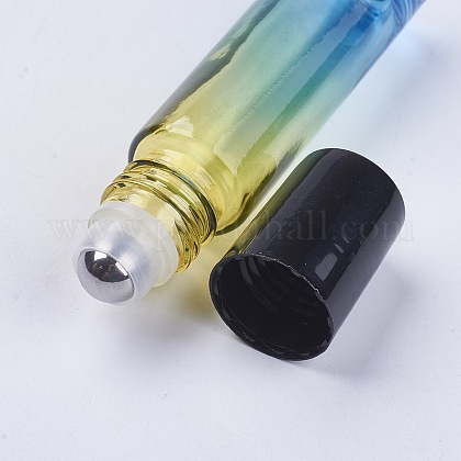 10mlガラスグラデーションカラーエッセンシャルオイルの空のローラーボールボトルX-MRMJ-WH0011-B06-10ml-1