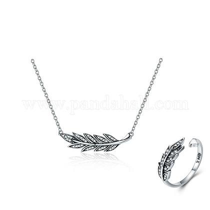 925 plata esterlina joyería de estableceSJEW-FF0002-11AS-1