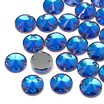 Sew on Rhinestone, K9 Glass Rhinestone, Two Holes, Garments Accessories, Back Plated, Faceted, Cone, Violet Blue, 12x5mm, Hole: 1mm