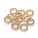 Tibetan Style Linking Rings, Circle Frames, Lead Free, Antique Golden, 19x2mm