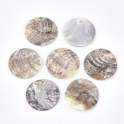 Colgantes de concha de akoya naturalSHEL-S274-75A-11-1
