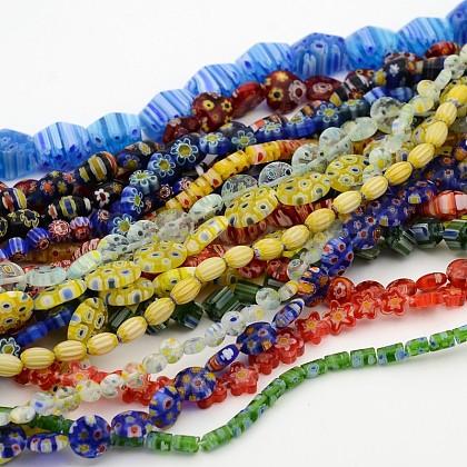 Estilo mezclado abalorios de cristal hechos a mano millefiori hebrasLK-F008-01-1
