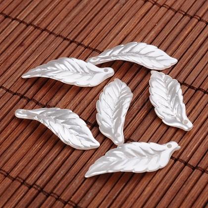De hojas colgantes de abalorios de imitación de acrílicoX-OACR-O002-2992-1