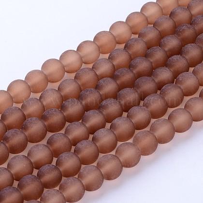 Chapelets de perles en verre transparentGLAA-S031-6mm-26-1