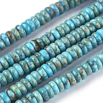 Natural Imperial Jasper Beads Strands G-F590-03-B-1