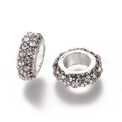 Alloy Rhinestone Beads RB-E521-01AS-1