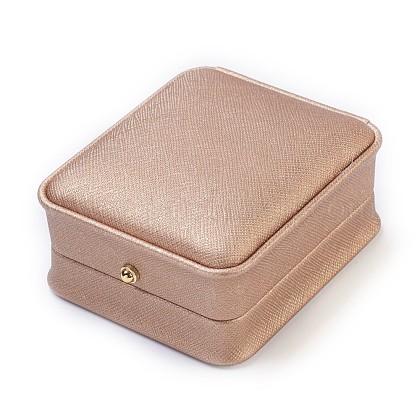 Imitation Silk Covered Wooden Jewelry Pendant BoxesOBOX-F004-02-1