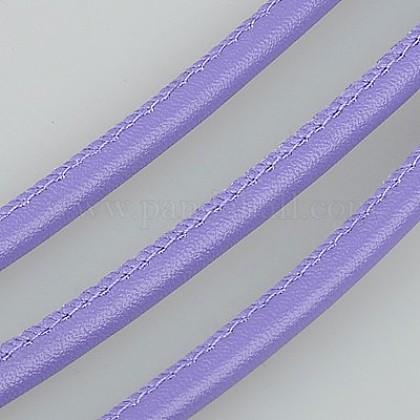 Cordón de cuero de imitaciónLC-K002-4mm-10-1