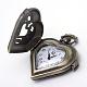 Cabezas de reloj de cuarzo de aleación de zinc de la vendimia corazón cepilladoWACH-R008-14-2