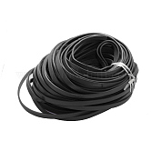 Cowhide Leather Cord, Leather Jewelry Cord, Black, 10x2.5mm