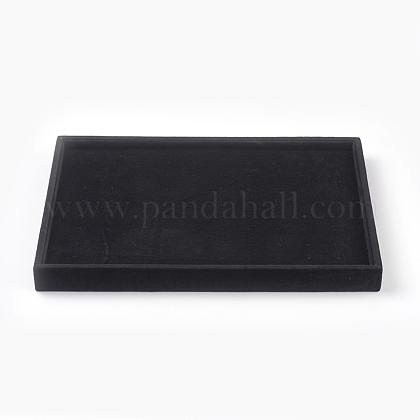 De madera cubierto con display de terciopelo pendienteEDIS-F003-01-1