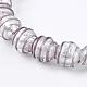 手作りの銀箔ガラスランプワークビーズFOIL-G027-01C-2