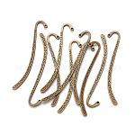 チベット風ブックマーク, 亜鉛合金, アンティークブロンズ, 自由なニッケル鉛フリー; 84x14x1.5ミリメートル, 穴:1.6mm