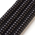 Coconut Shell Beads Strands, Dyed, Rondelle, Black, 10x4mm, Hole: 0.5~1mm; about 115pcs/strand, 18.1(46cm)