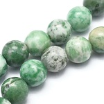 Natural Qinghai Jade Beads Strands, Round, 6mm, Hole: 1mm; about 62pcs/strand, 14.9inches(38cm)