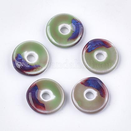 Abalorios de porcelana hechas a manoPORC-S498-54A-1