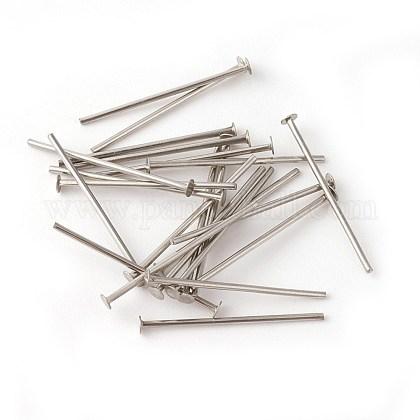 304 Stainless Steel Flat Head PinsSTAS-G185-07P-0.7x18mm-1