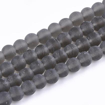 Chapelets de perles en verre transparente  GLAA-Q064-15-10mm-1