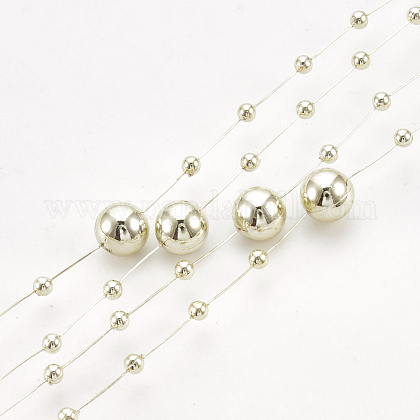 ABS Plastic Imitation Pearl Beaded Trim Garland StrandAJEW-S071-01F-1