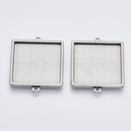 304 Stainless Steel Cabochon Connector SettingsSTAS-R101-05B-1