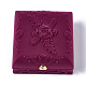 Boîtes à bijoux en velours motif fleur roseX-VBOX-O003-04-1