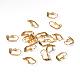 Golden Color Brass Leverback Earring FindingsX-EC561-G-3