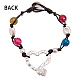 Alloy Beaded Bracelets BJEW-Q695-30MS-NR-3
